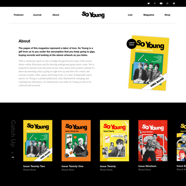 So Young Magazine | About | A fully illustrated new music magazine