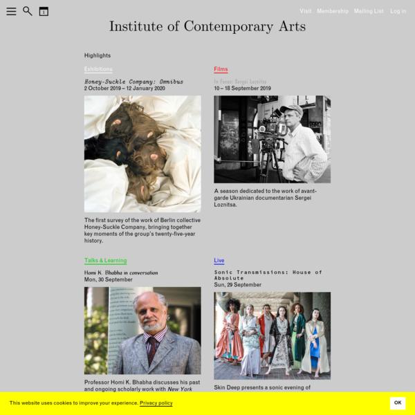 ICA | Institute of Contemporary Arts