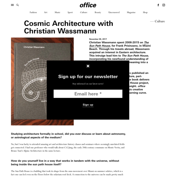 Cosmic Architecture with Christian Wassmann