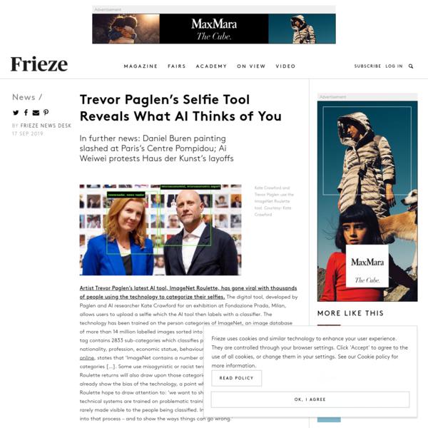 Trevor Paglen's Selfie Tool Reveals What AI Thinks of You