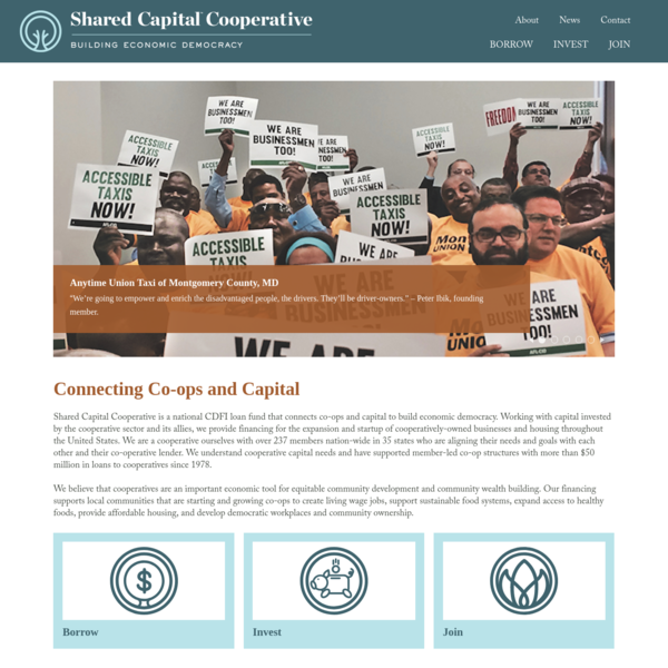 Shared Capital Cooperative - Building Economic Democracy