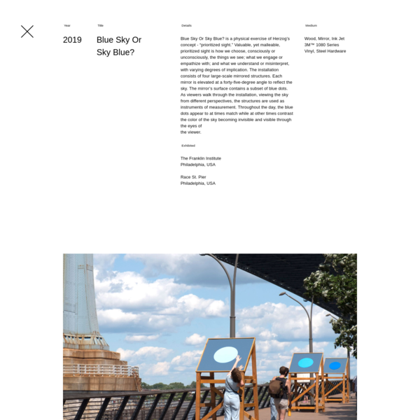 Andrew Herzog - Blue Sky Or Sky Blue?, 2019