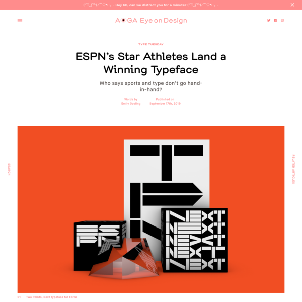 ESPN's Star Athletes Land a Winning Typeface