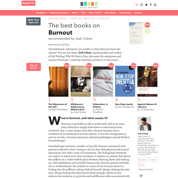 The Best Books on Burnout | Five Books Expert Recommendations