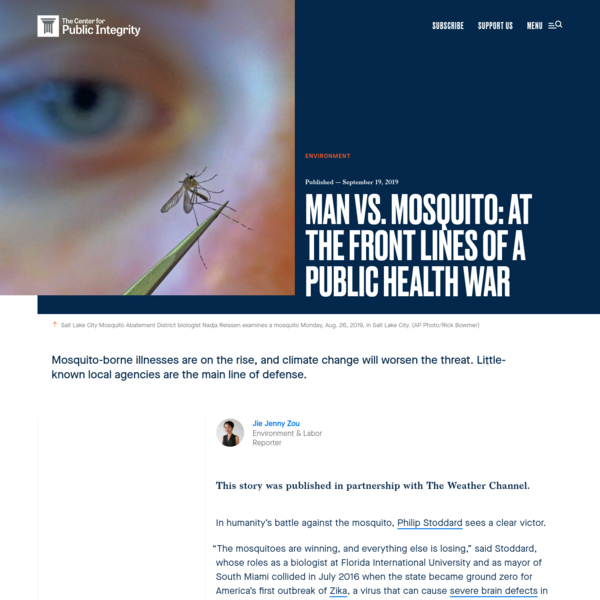 Man vs. mosquito: At the front lines of a public health war - Center for Public Integrity