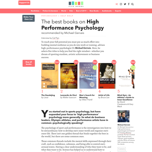 The Best Books on High Performance Psychology | Five Books Expert Recommendations