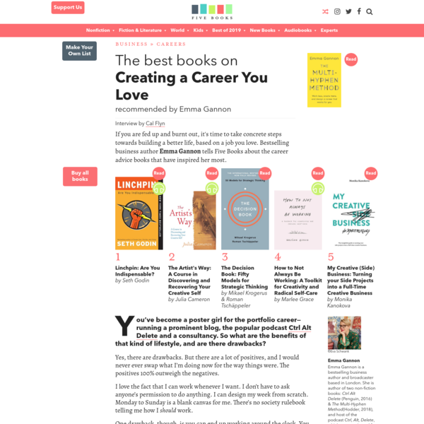 The Best Books on Creating a Career You Love | Five Books