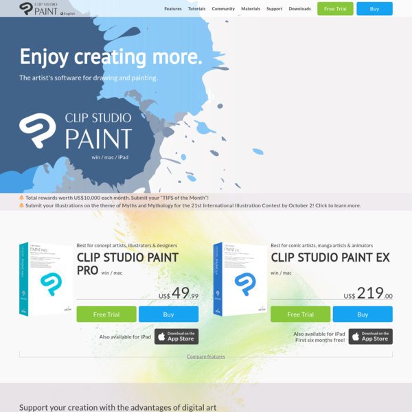 CLIP STUDIO PAINT - The artist's software for drawing and painting