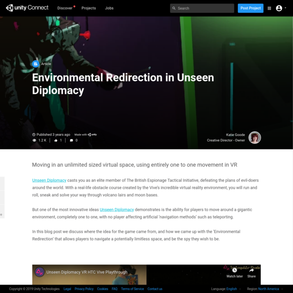 Environmental Redirection in Unseen Diplomacy - Unity Connect