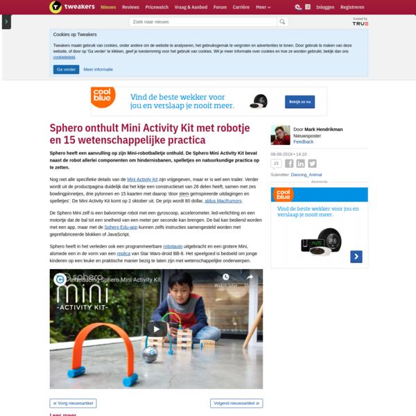 Sphero onthult Mini Activity Kit met robotje en 15 wetenschappelijke practica