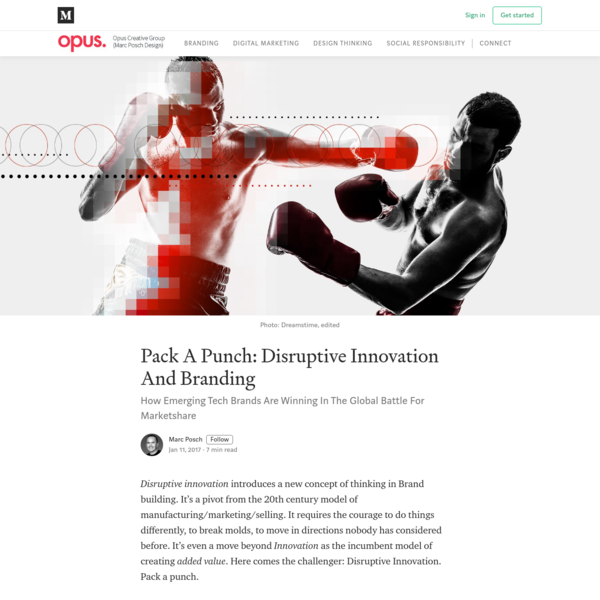 Pack A Punch: Disruptive Innovation And Branding