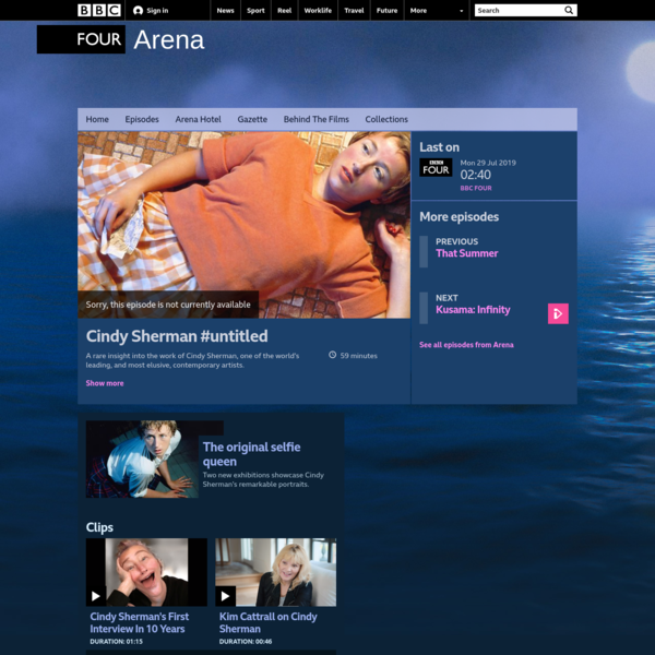BBC Four - Arena, Cindy Sherman #untitled