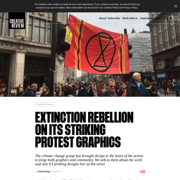 Extinction Rebellion On Its Striking Protest Graphics