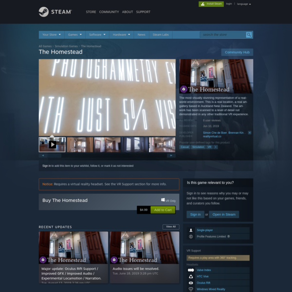 The Homestead on Steam