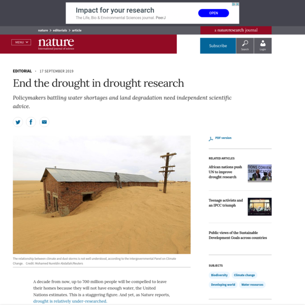 End the drought in drought research