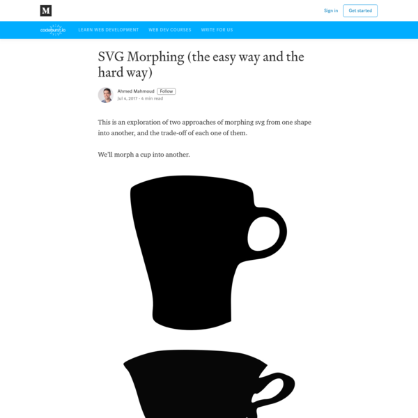 SVG Morphing (the easy way and the hard way)