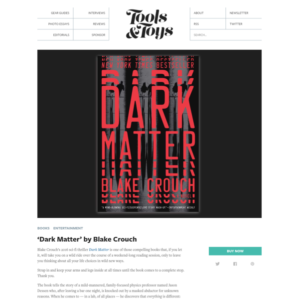 'Dark Matter' by Blake Crouch - Tools and Toys