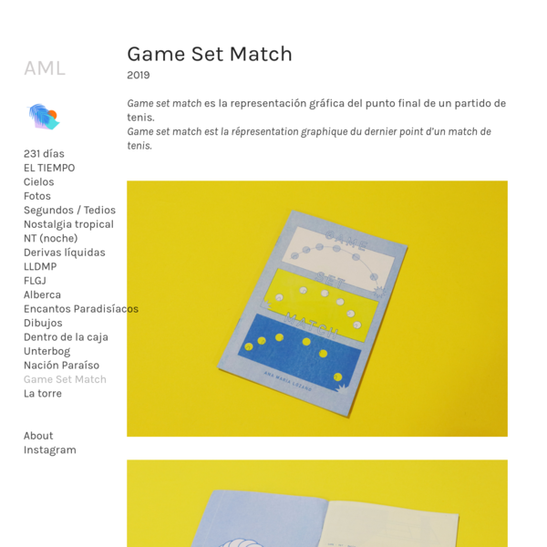 Game Set Match - Ana Maria Lozano