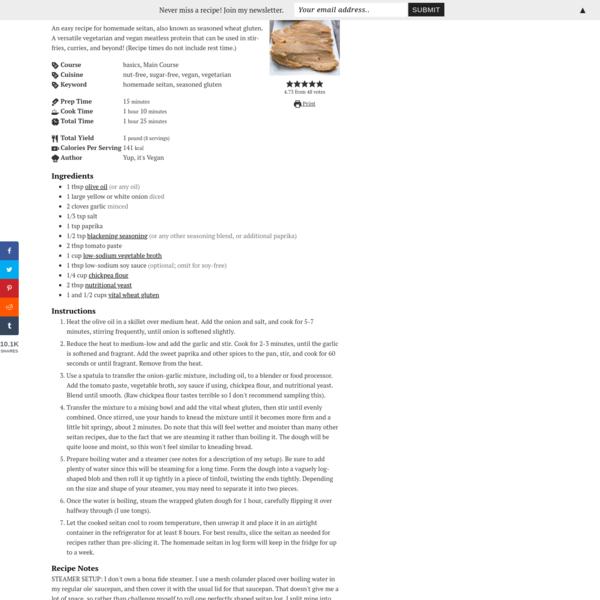 Basic Homemade Seitan Recipe   DIY Seasoned Wheat Gluten