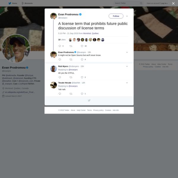 Evan Prodromou on Twitter