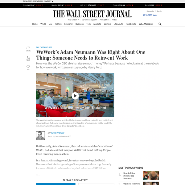 WeWork's Adam Neumann Was Right About One Thing: Someone Needs to Reinvent Work
