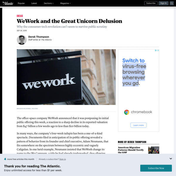 WeWork and the Great Unicorn Delusion