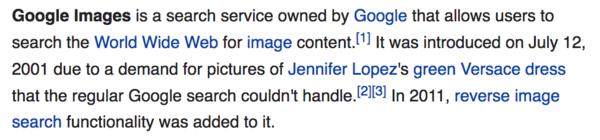 Google Reverse Image Search, Jennifer Lopez Versace dress
