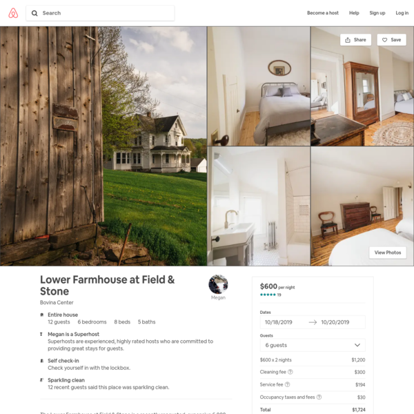 Lower Farmhouse at Field & Stone - Houses for Rent in Bovina Center, New York, United States