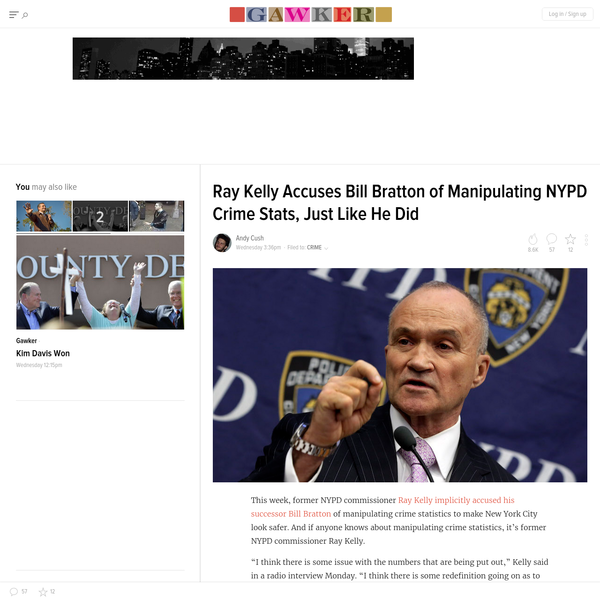 Ray Kelly Accuses Bill Bratton of Manipulating NYPD Crime Stats, Just Like He Did