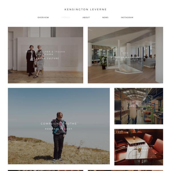 Kensington Leverne - Portrait, Design and Interiors Photographer