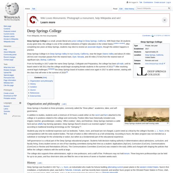 Deep Springs College