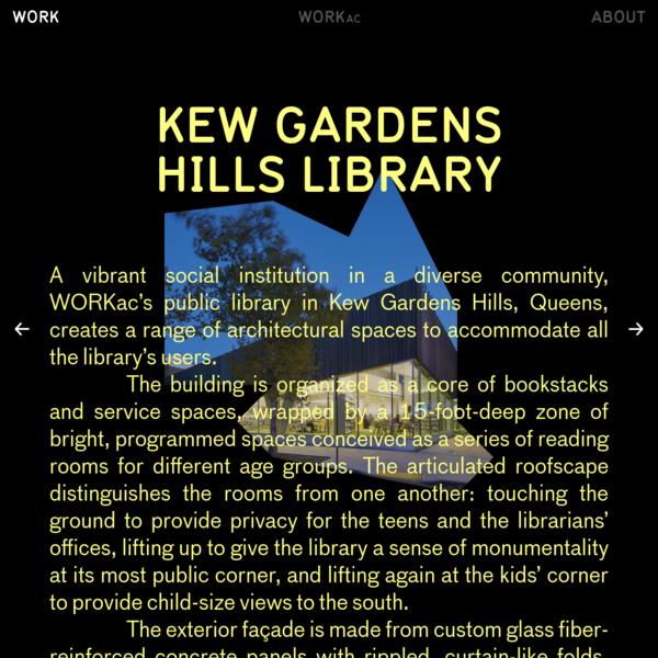 Kew Gardens Hills Library — WORKac