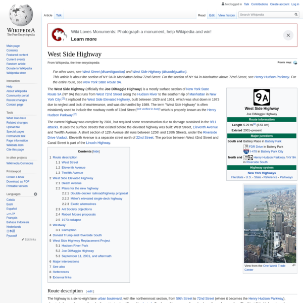 West Side Highway - Wikipedia