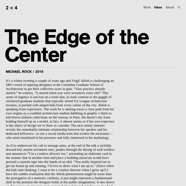 The Edge of the Center - 2x4