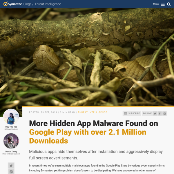 More Hidden App Malware Found on Google Play with over 2.1 Million Downloads