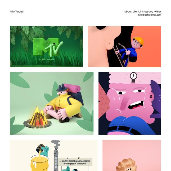 Milo Targett - illustration and animation direction London