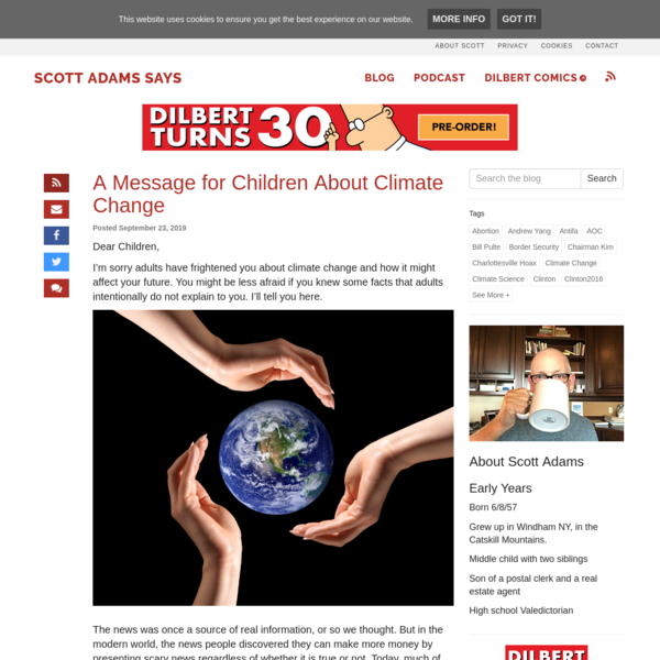 A Message for Children About Climate Change - Scott Adam's Blog