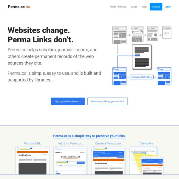Websites change. Perma Links don't.