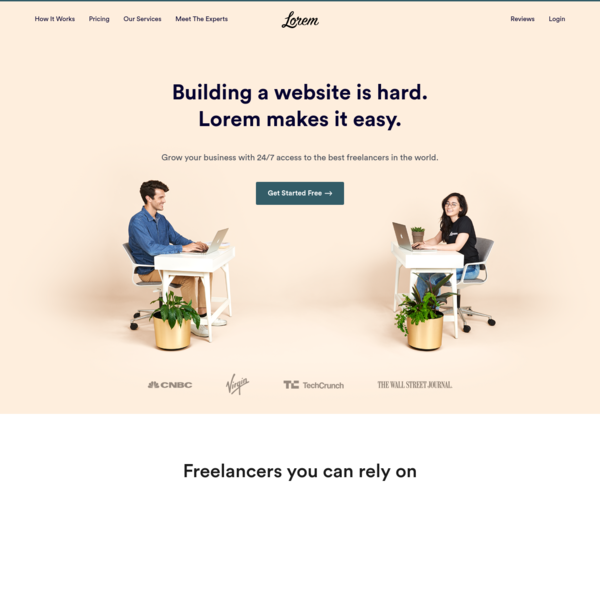 Lorem - Building Your Website Is Hard. We Make It Easy.