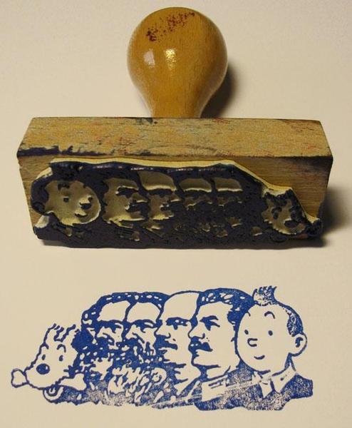Tampographe Sardon - Tintin et les soviets