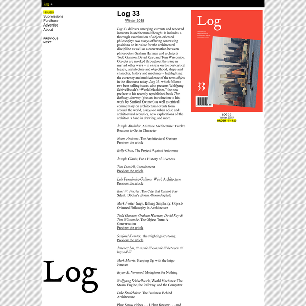 Anyone Corporation \ Log Journal for Architecture
