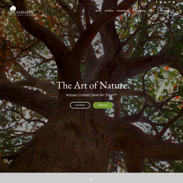 Trees As Experience - NatureMaker Steel Art Trees