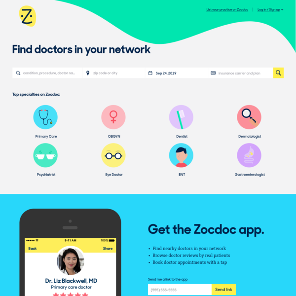 Zocdoc | Find a Doctor Near You | Book Appointments Online