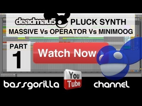 (FREE DOWNLOAD) Deadmau5 Pluck Synth - Massive Vs Operator Vs Minimoog - Ableton Tutorial - (pt1)