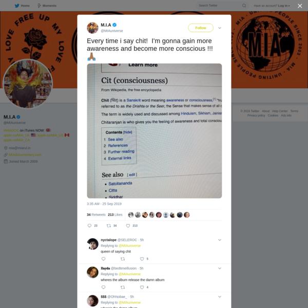 M.I.A on Twitter