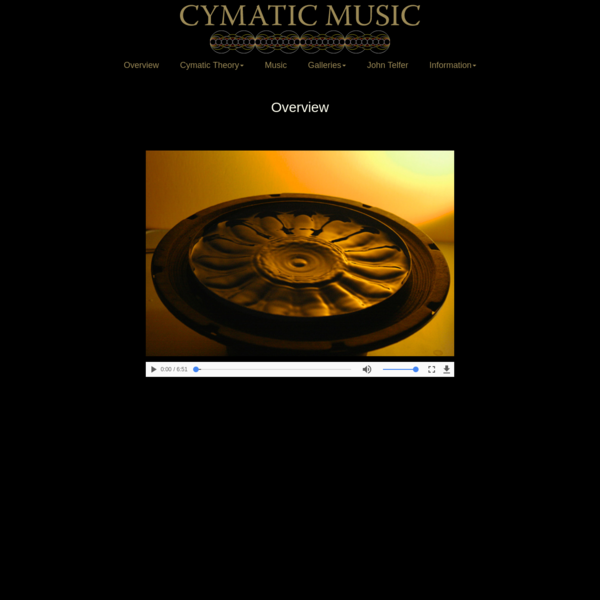 Cymatic Music Overview