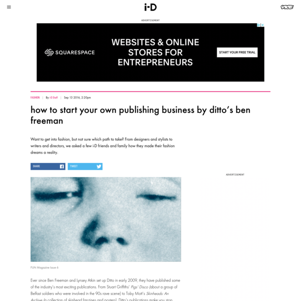 how to start your own publishing business by ditto's ben freeman