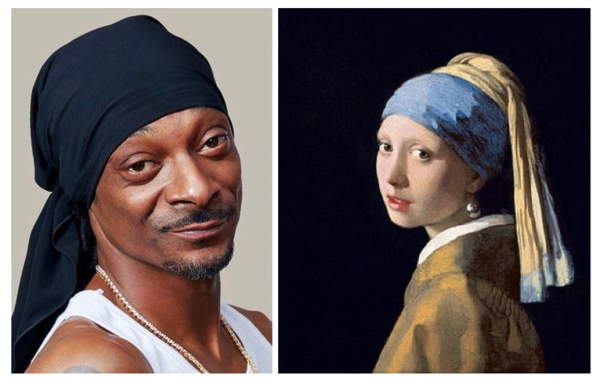 Snoop Dogg 2018 / Girl with a pearl earring 1665