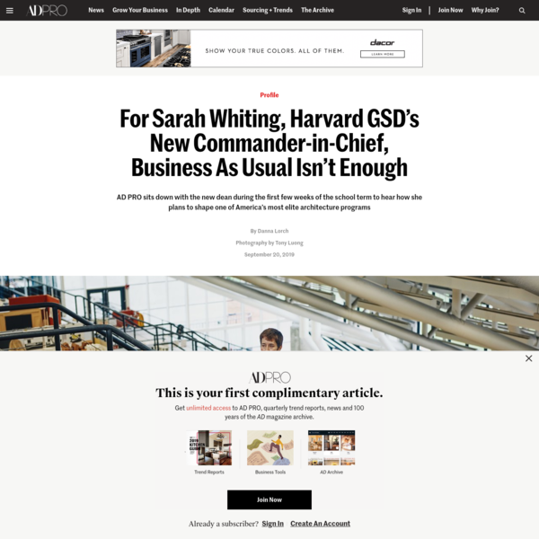 For Sarah Whiting, Harvard GSD's New Commander-in-Chief, Business As Usual Isn't Enough   Architectural Digest