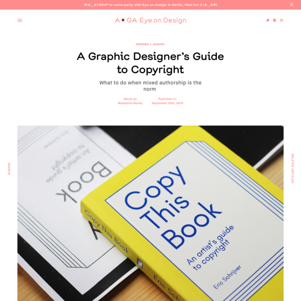 A Graphic Designer's Guide to Copyright | | Eye on Design